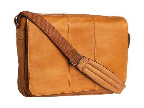 Culture Phit Leather Flapover Computer Messenger Bag Tan - 6pm.com ...