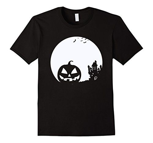Jack O' Lantern Haunted House Bats Halloween T Shirt