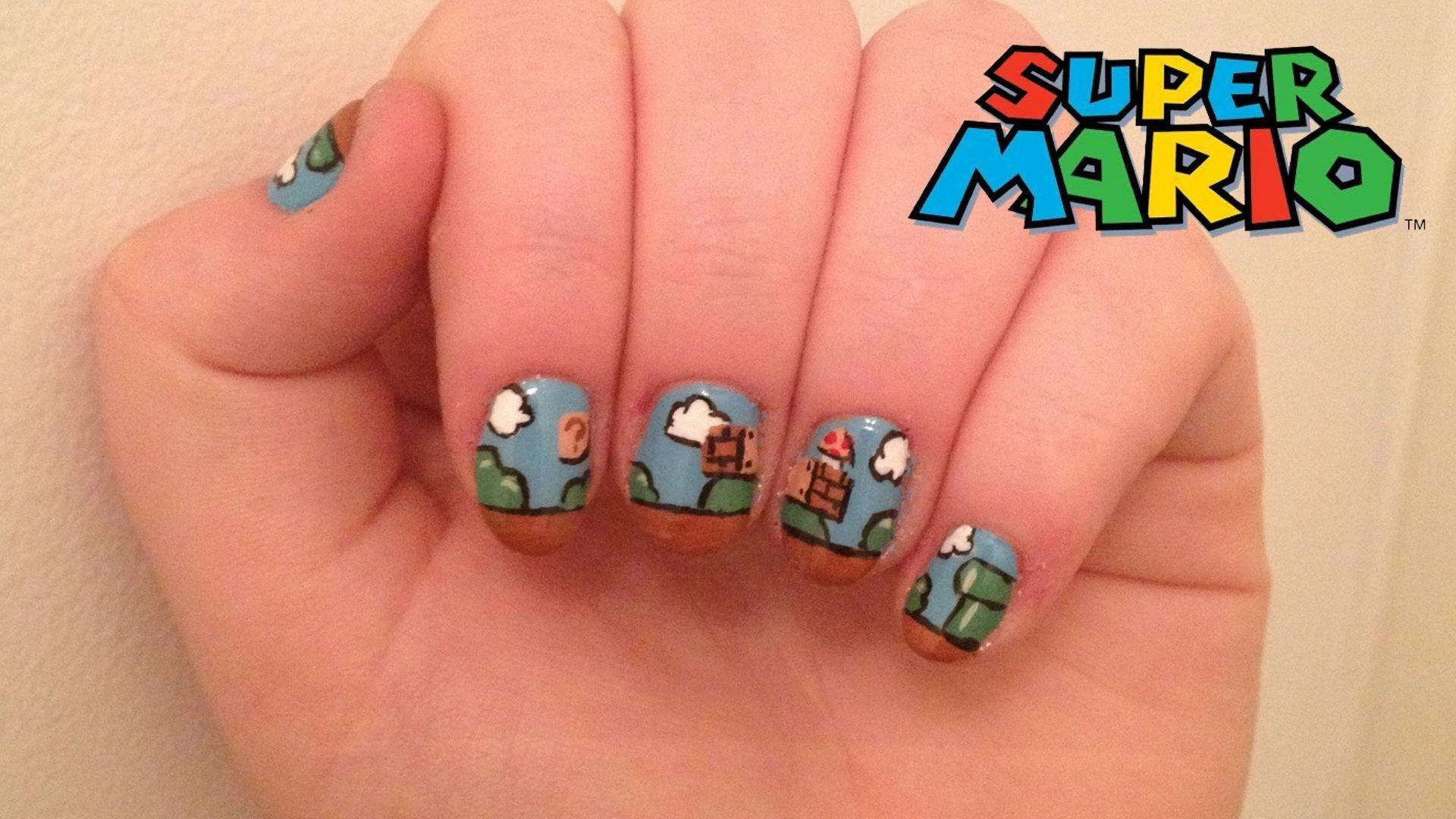 Super Mario Nails | Nail Art Stuff | Pinterest