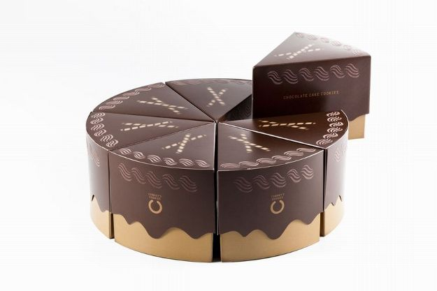 Chocolate cake packaging