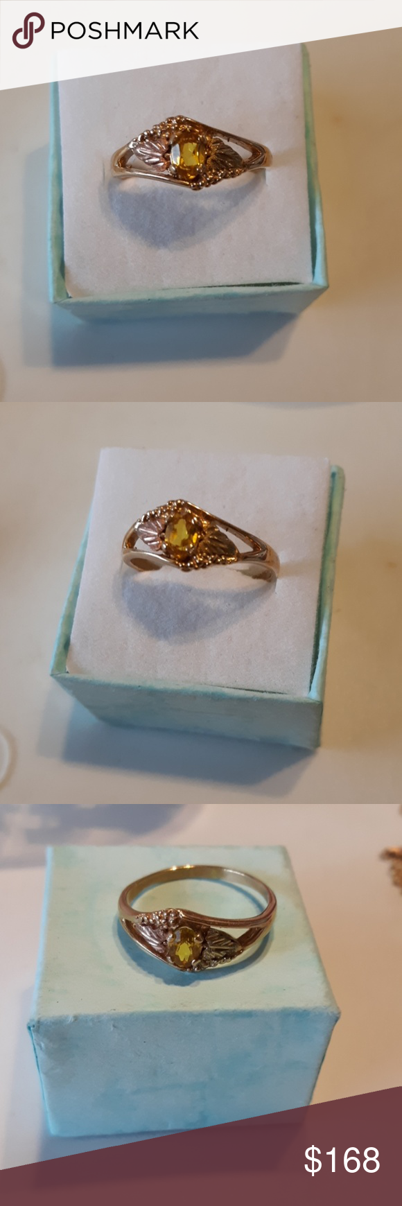 Sold Black Hills Gold 10k Gold Citrine Ring Black Hills Gold Black Hills Gold Jewelry Black Hills Gold Rings