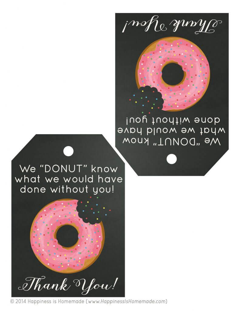 Free printable donut thank you gift tags patient experience free printable donut thank you gift tags negle Choice Image