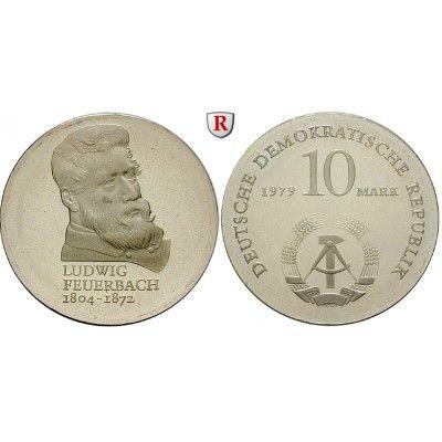 DDR, 10 Mark 1979, Feuerbach, PP, J. 1574 10 Mark 1979