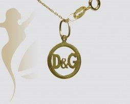 GNK358 Real Gold  D&G Necklace
