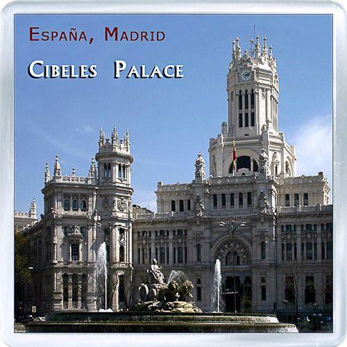 $3.29 - Acrylic Fridge Magnet: Spain. Madrid. City Hall