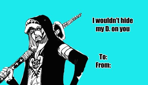 Some one piece Valentines cards
