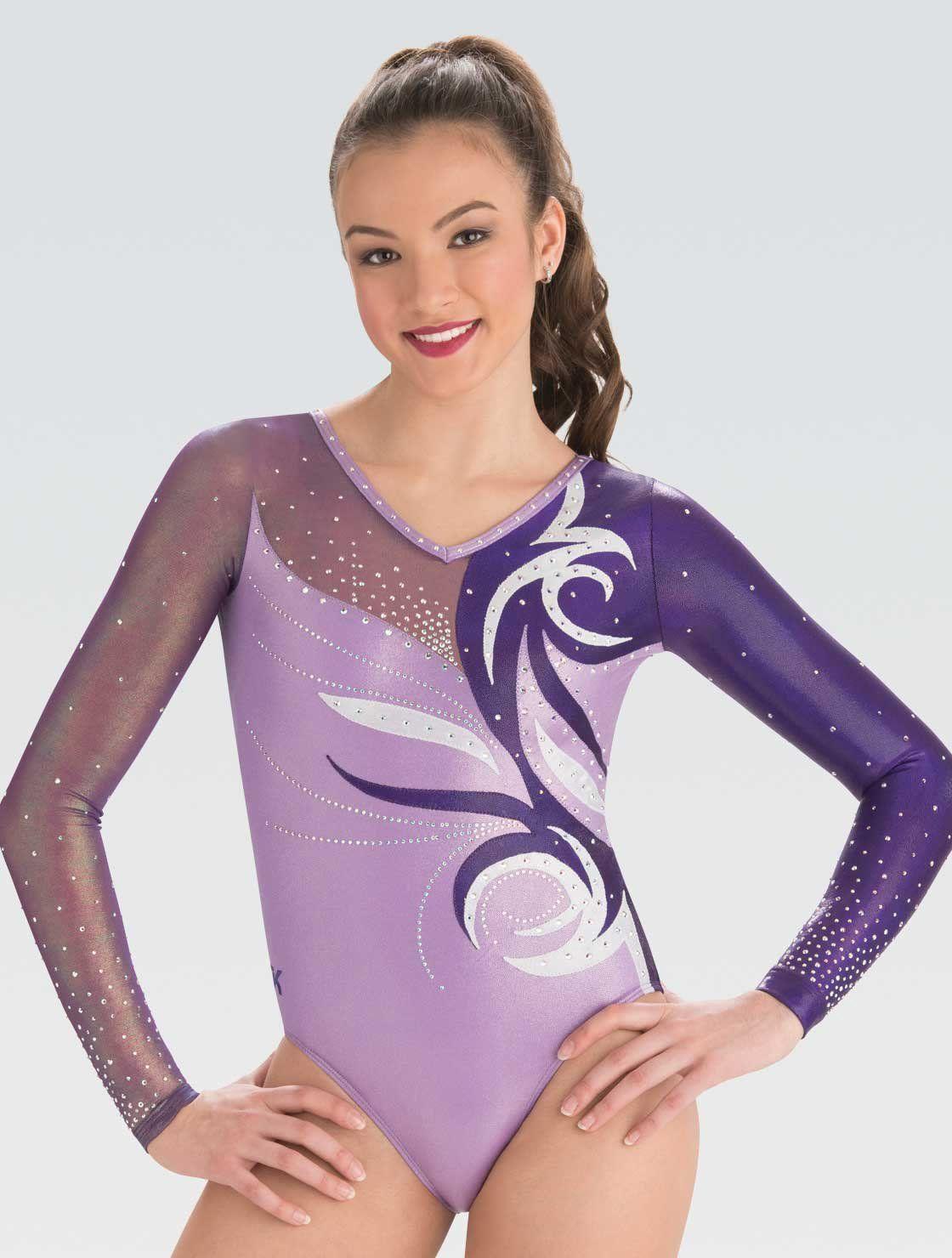 Nastia Liuken in a dark suit   Gymnastics leotards, Gym