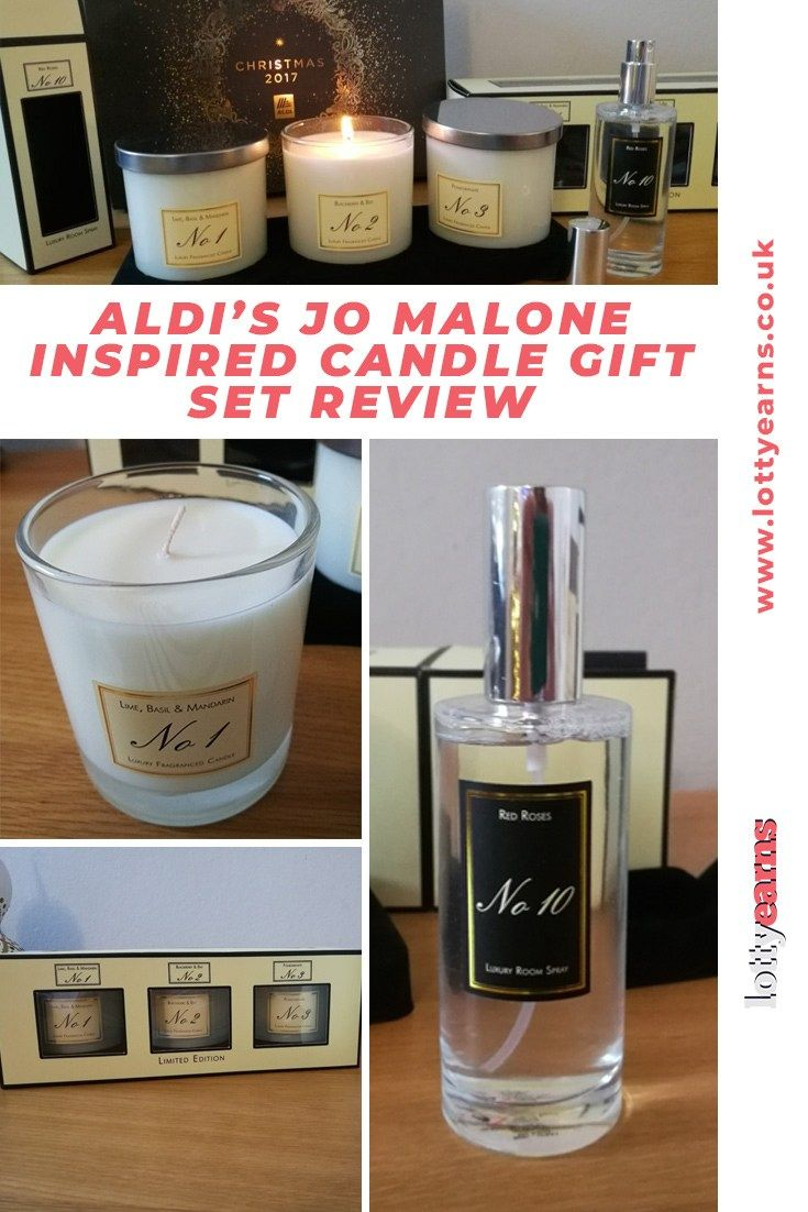 Aldis jo malone inspired candle gift set review candle