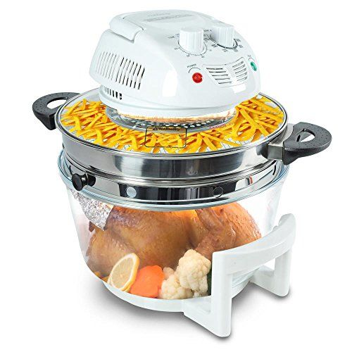NutriChef Halogen Cooking Convection Oven AirFryer Infrared Conve ...