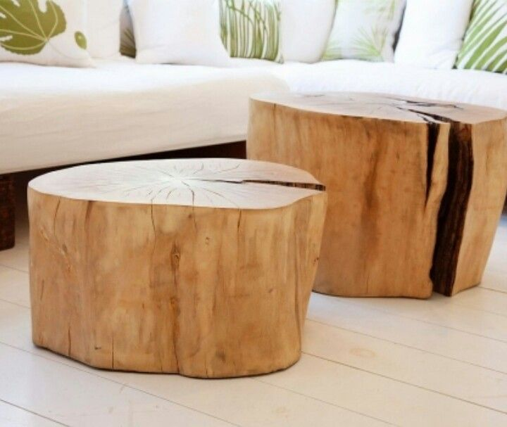 Silver Tree Stump Coffee Table: Dining Room/Kitchen