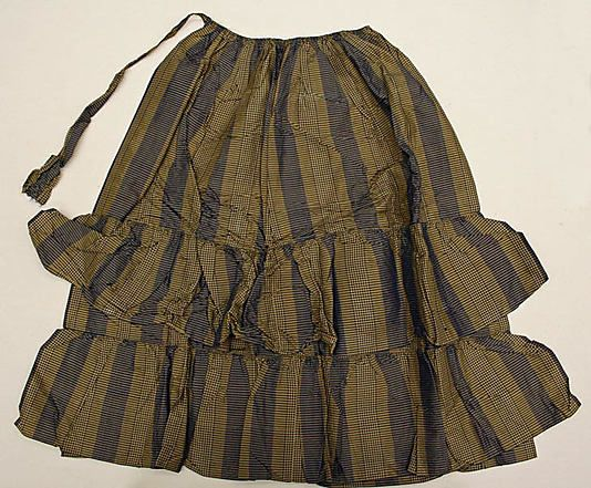 Apron  Date: 1860s Culture: American Medium: silk