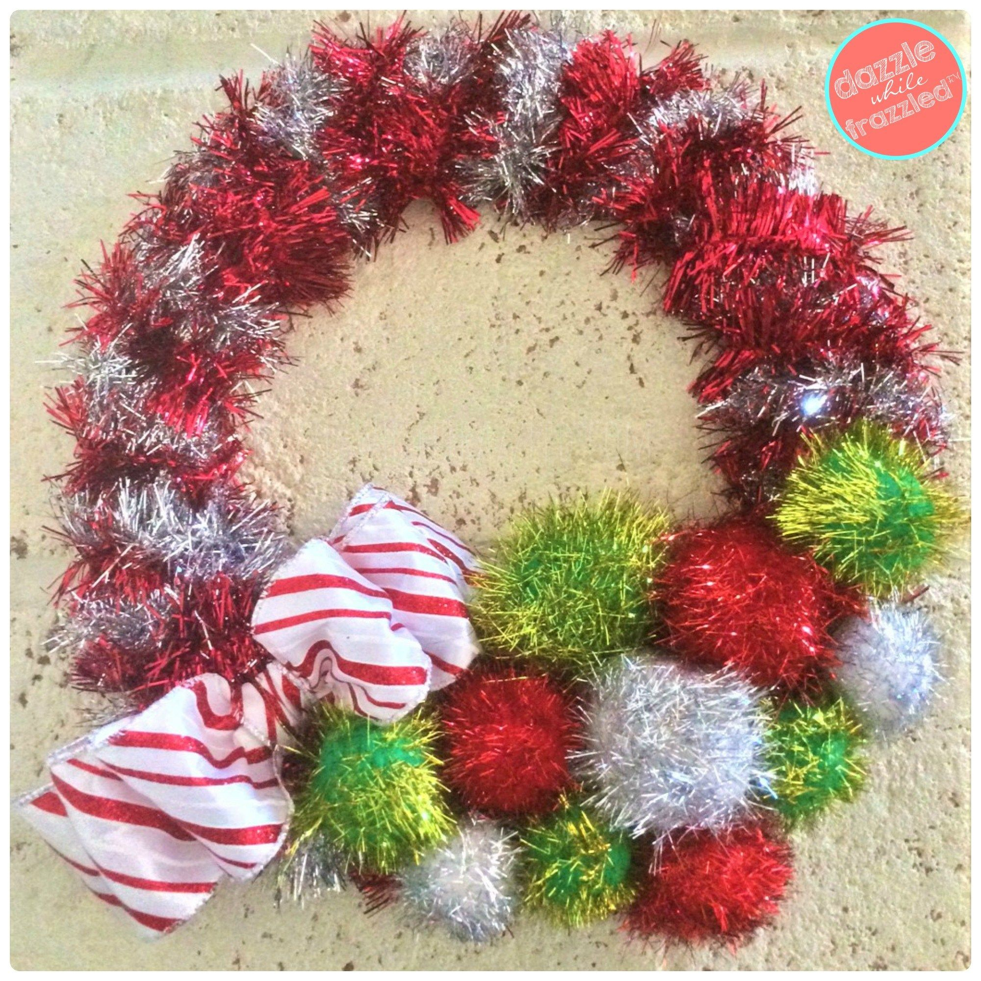 How to Make Retro 20Minute Tinsel Garland Wreath