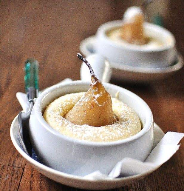 Cinnamon Poached Pear Cakes - Verses from my Kitchen