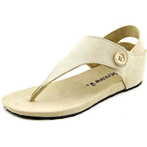 037a19bb139d BEARPAW Womens April Fisherman Sandal Linen 9 M US     Want to know more