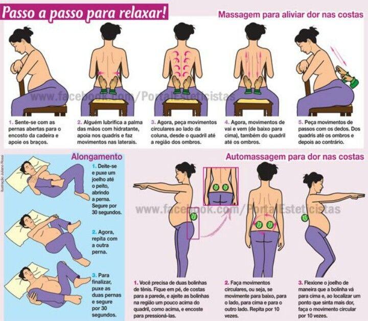 Costas e nas na quadril gravidez nas dor pernas do