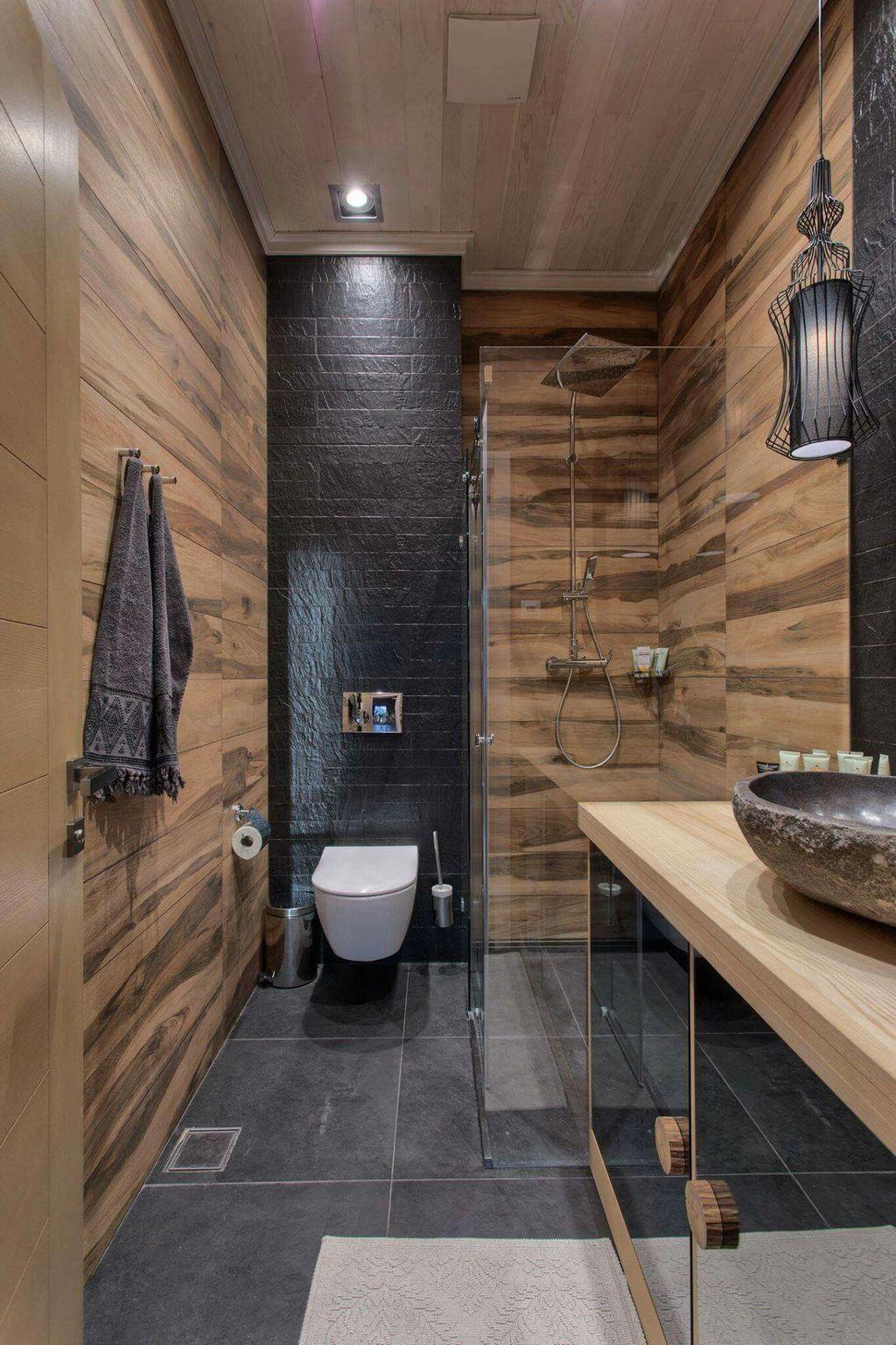30+ Superb Bathroom Design Ideas With Wood Shades
