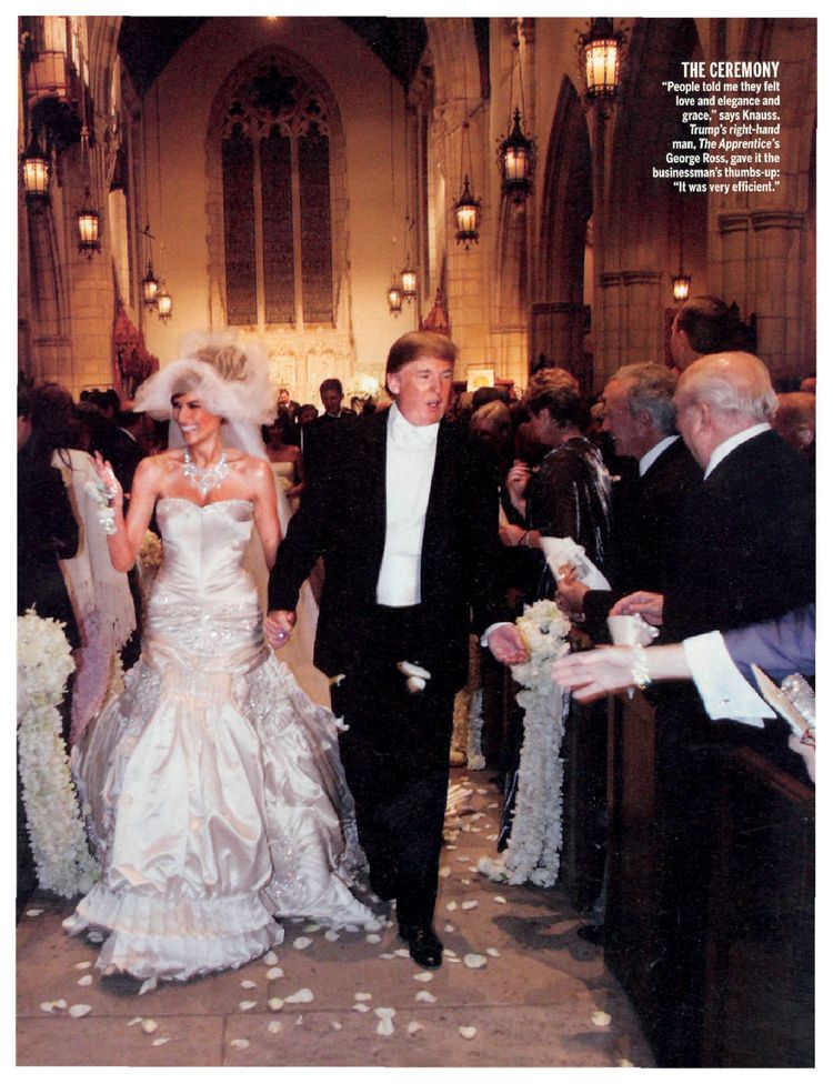 Best Celebrity Weddings Of All Time Venuelust Melania Trump Wedding Celebrity Wedding Gowns Trump Wedding