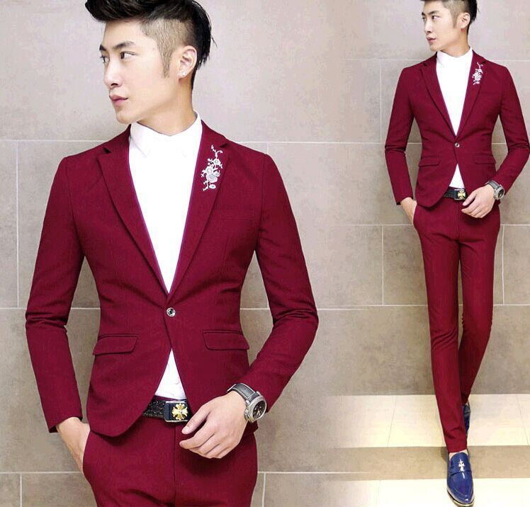 Fashion Slim Cheap Dress Suits For Men Teenagers Boy 2015 New ...
