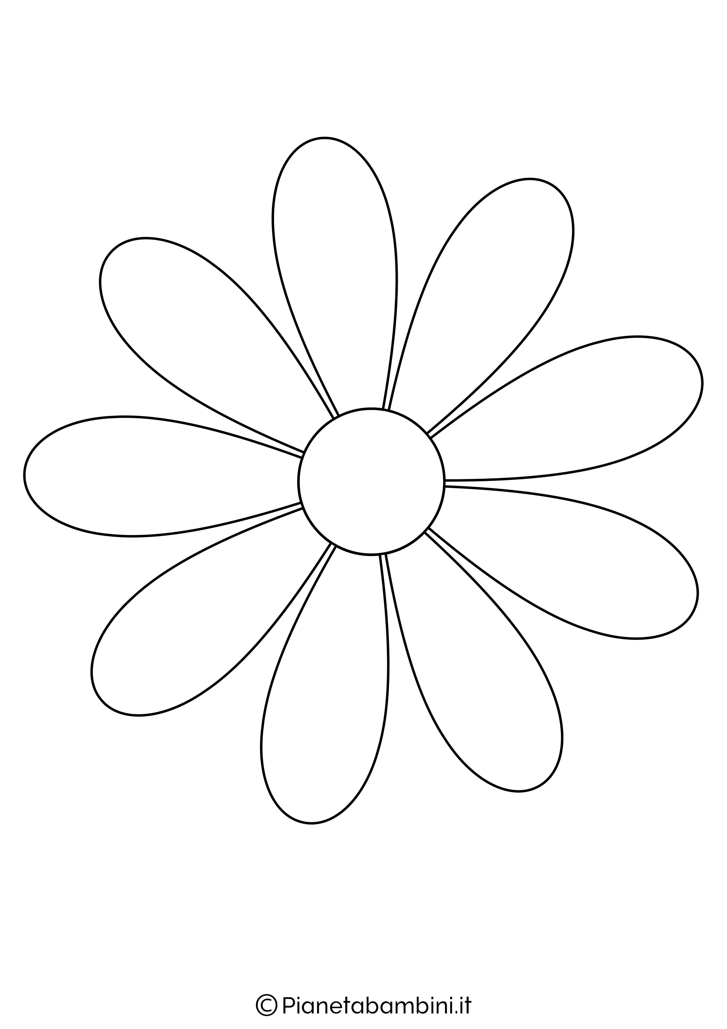 Sagoma Fiore Grande 3 Png 2480 3508 Disegno Di Fiori Modello Di Fiore Di Carta Fiori Disegnati Da Colorare