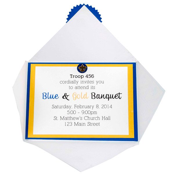 Blue And Gold Program Template Blue And Gold Invitation Cub