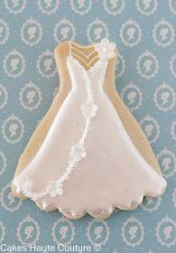 Bridal dress cookie