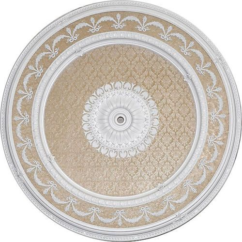 "Napoli Ceiling Medallion Round White Beige 63"" Dia New   eBay"