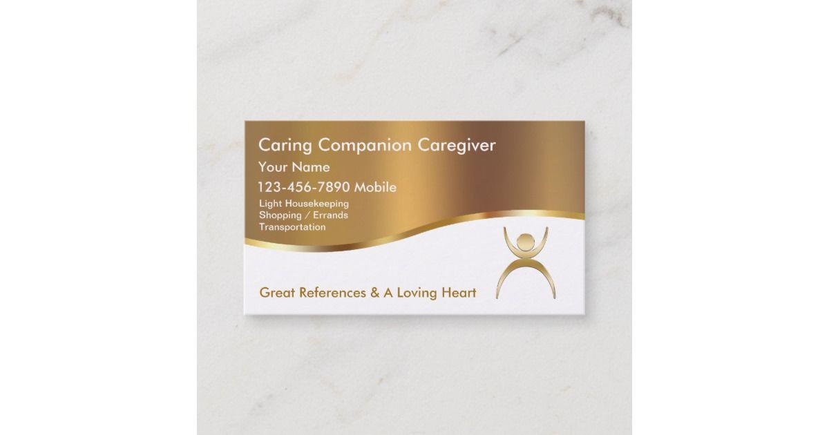 Classy Caregiver Business Cards Zazzle Com Caregiver Elderly