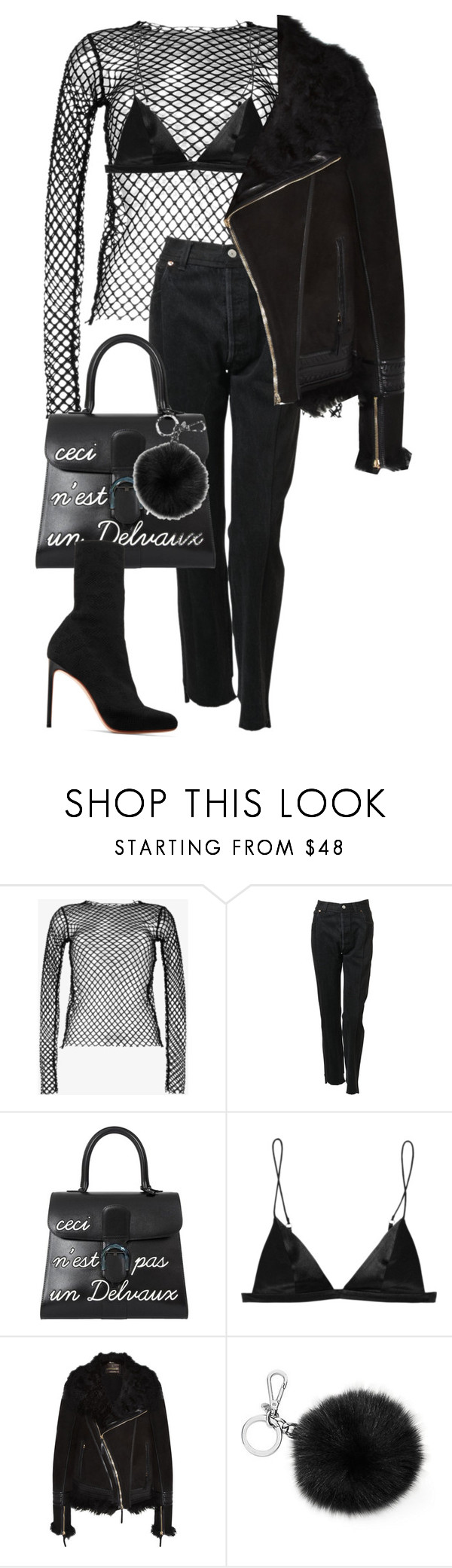 """""""Don't worry, baby"""" by nikkischeper ❤ liked on Polyvore featuring Dries Van Noten, Vetements, Delvaux, T By Alexander Wang, Roberto Cavalli, Michael Kors and Francesco Russo"""