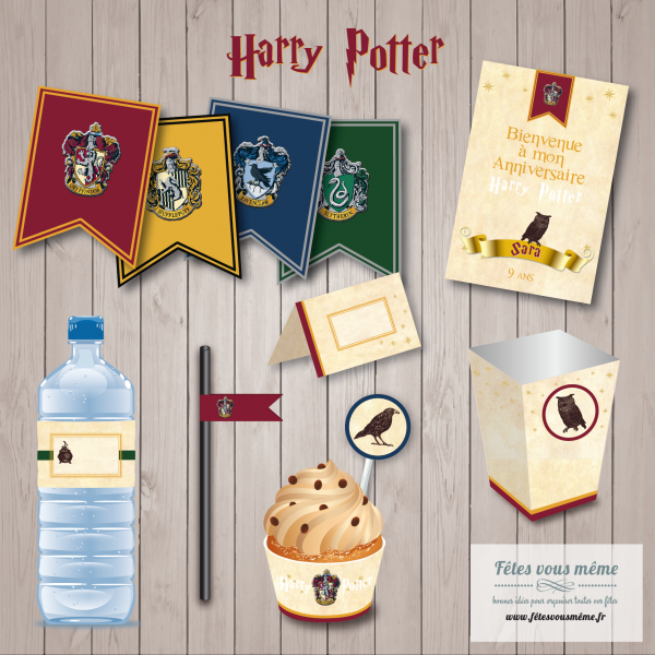 kit deco harry potter anniversaire harry potter table. Black Bedroom Furniture Sets. Home Design Ideas