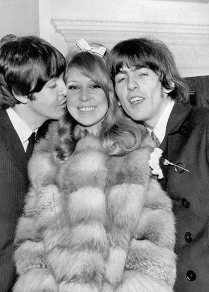 George Harrison And Patti Boyd With Paul Mccartney