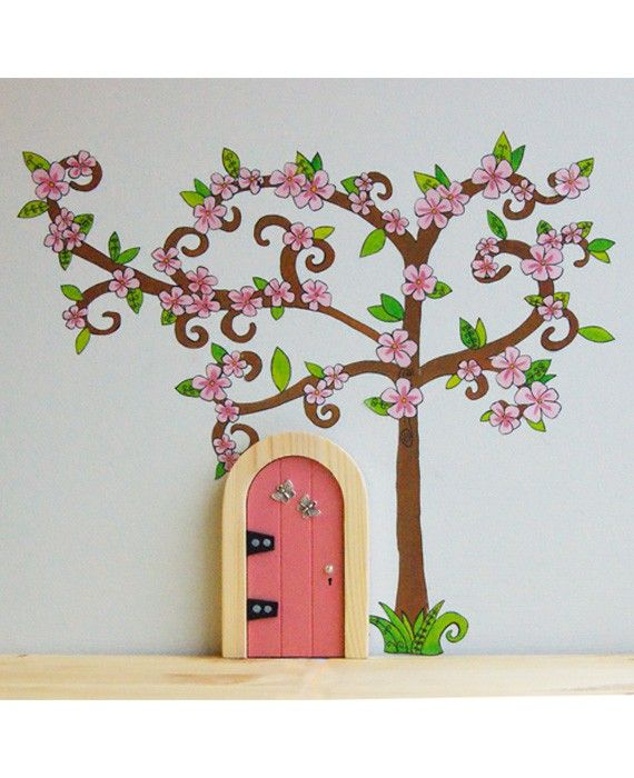 The Irish Fairy Blossom Tree Decal Pack! Each pack contains a tree (approximately 27cm tall and 31cm wide); the long branch is separate in the pack which you can place as you wish as well as 16 pink blossoms and 23 leaf clusters.