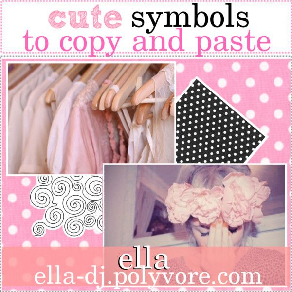 cute symbols to copy and paste | Internet and fun tips ... Symbols Copy And Paste Cute
