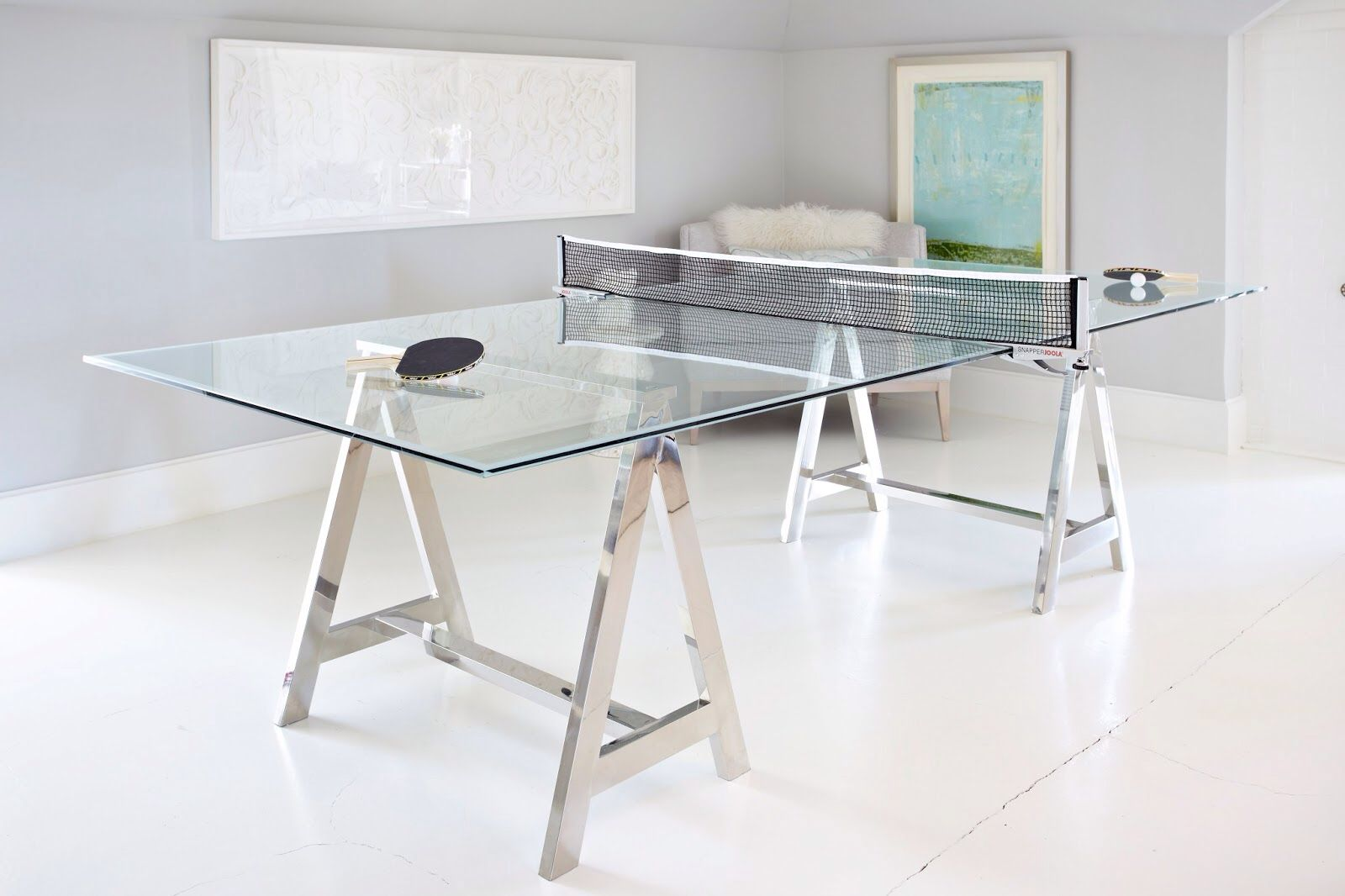 Astonishing Glass Ping Pong Table Interior Design Media Room Design Home Interior And Landscaping Dextoversignezvosmurscom