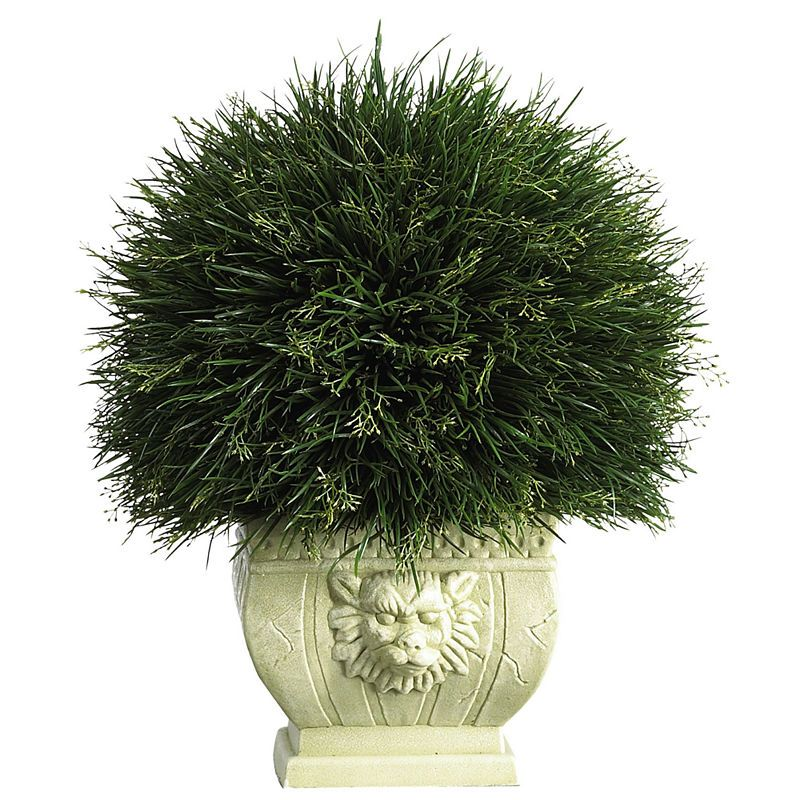 Potted Grass With White Vase Indoor/Outdoor -   24 white garden pots ideas