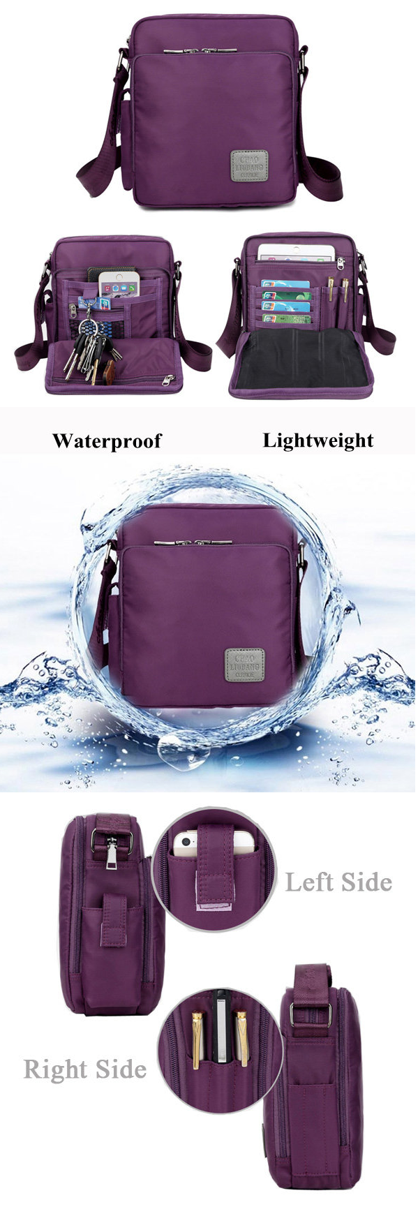 b6c2c63d24 US 21.73 Women Men Nylon Waterproof Multifunctional Shoulder Bags Crossbody  Bags