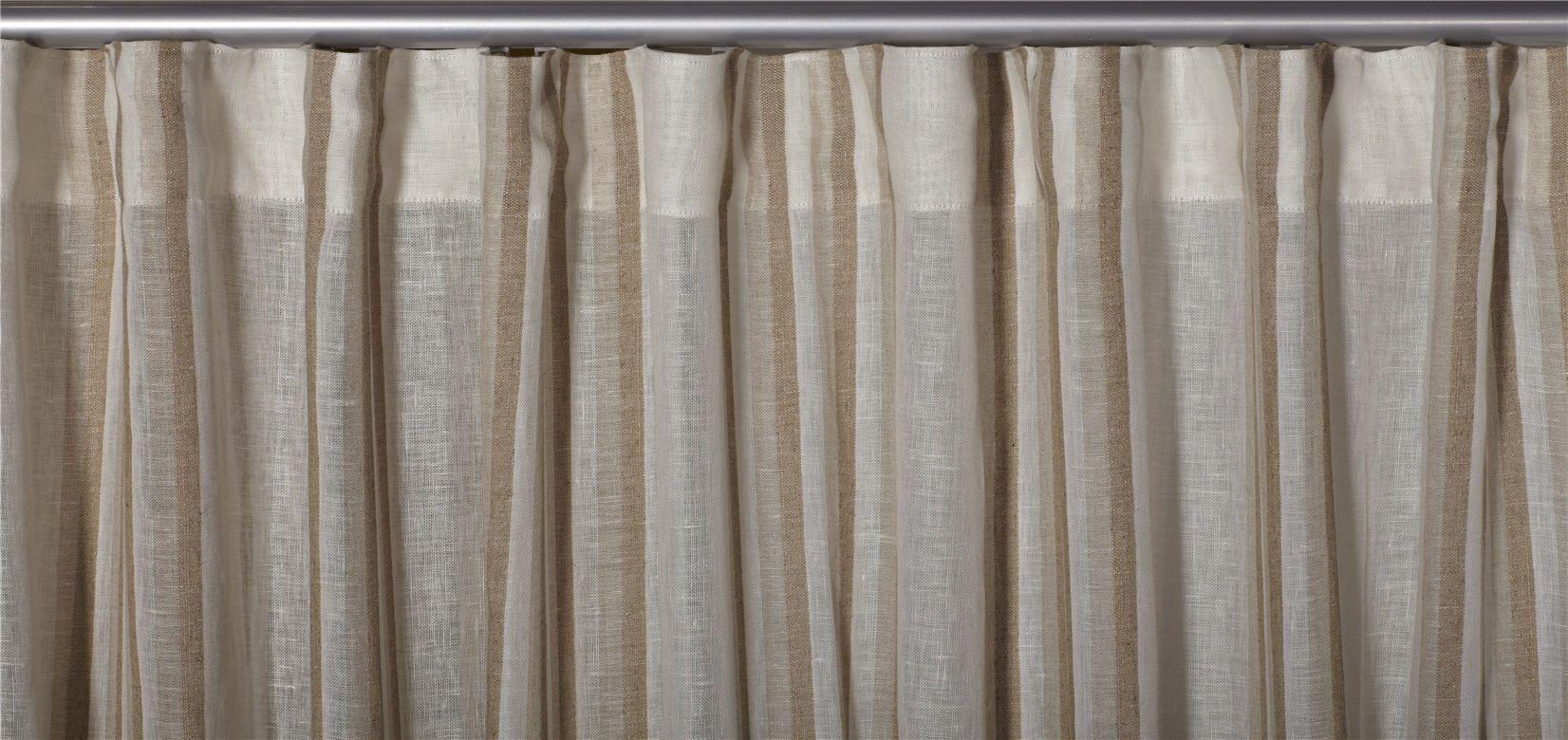Linen Striped Sheer Drapery Fabric La Croisette By Charles