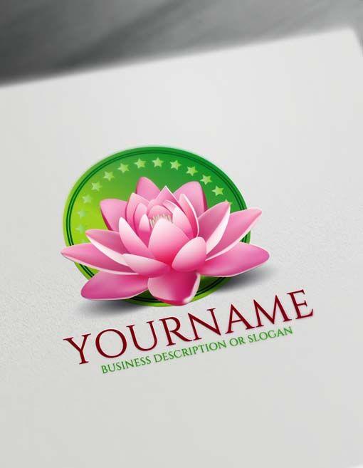 Free Logo Creator Online 3d Lotus Logo Maker Amazing Flower Logo