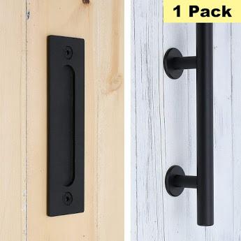 12 Inch Sliding Barn Door Handle Pull And Flush Door Handle Set