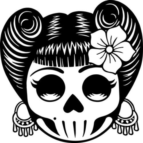 24 Aufkleber bunter Totenkopf DIY Wandtattoo Sticker Tattoo Set Schädel Skull