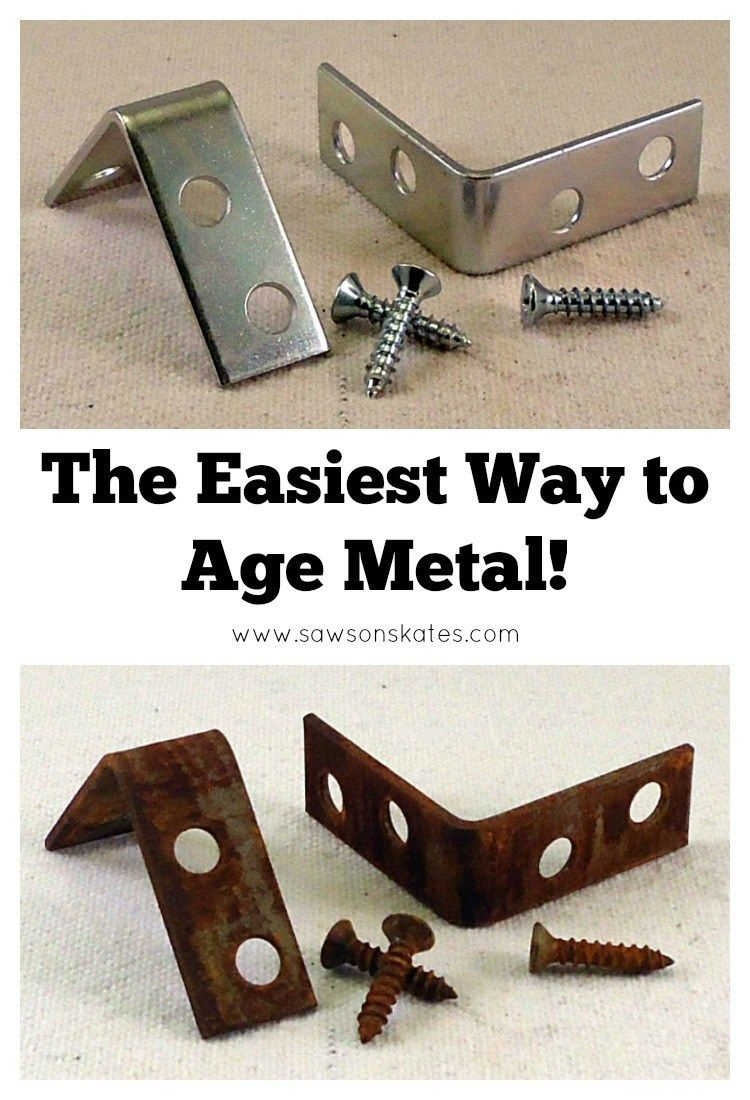 Have you ever wondered how to age metal? We can get that look at home and it doesn't require much time at all. The best part is you probably already have all the supplies on hand to do it. Hands down, this is the easiest way to age metal EVER!