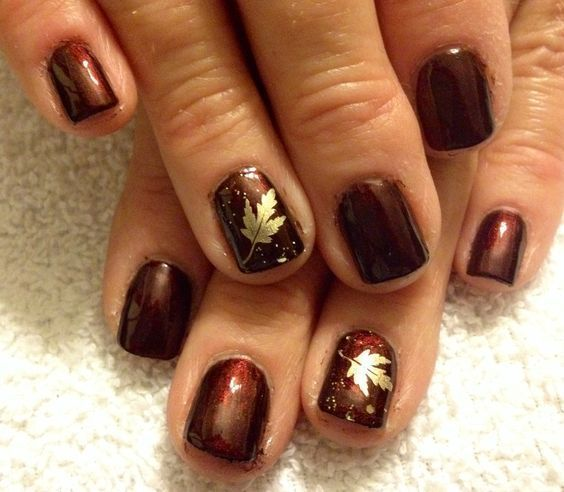 74 Fall Nail Colors Gel Nail Polish Design #fallnails