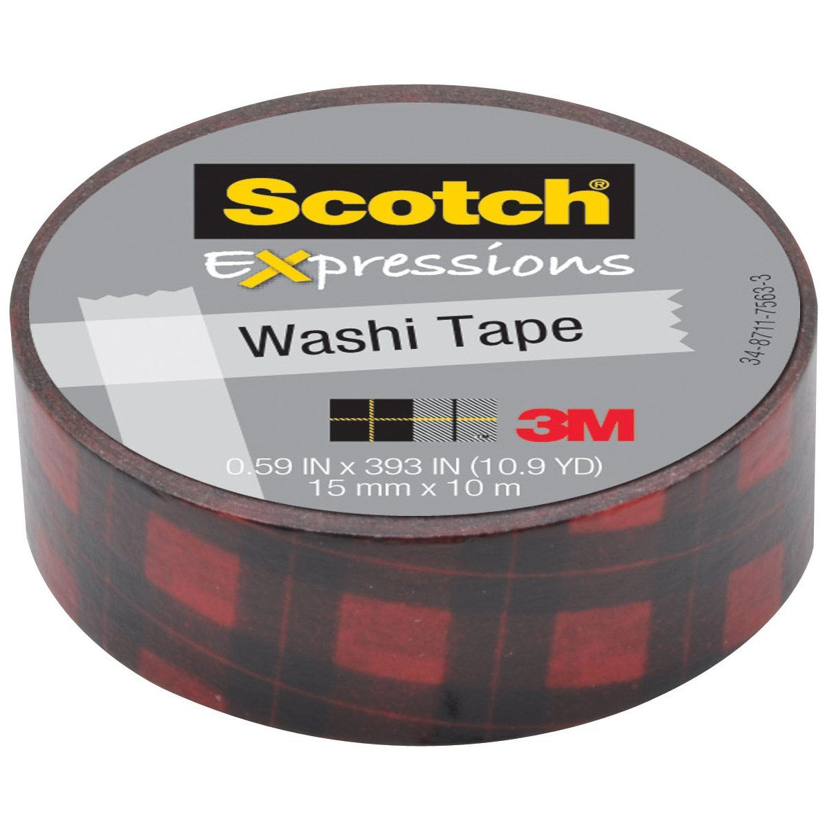 Washi Tape Red Buffalo Plaid Washi Tape Washi Masking Tape