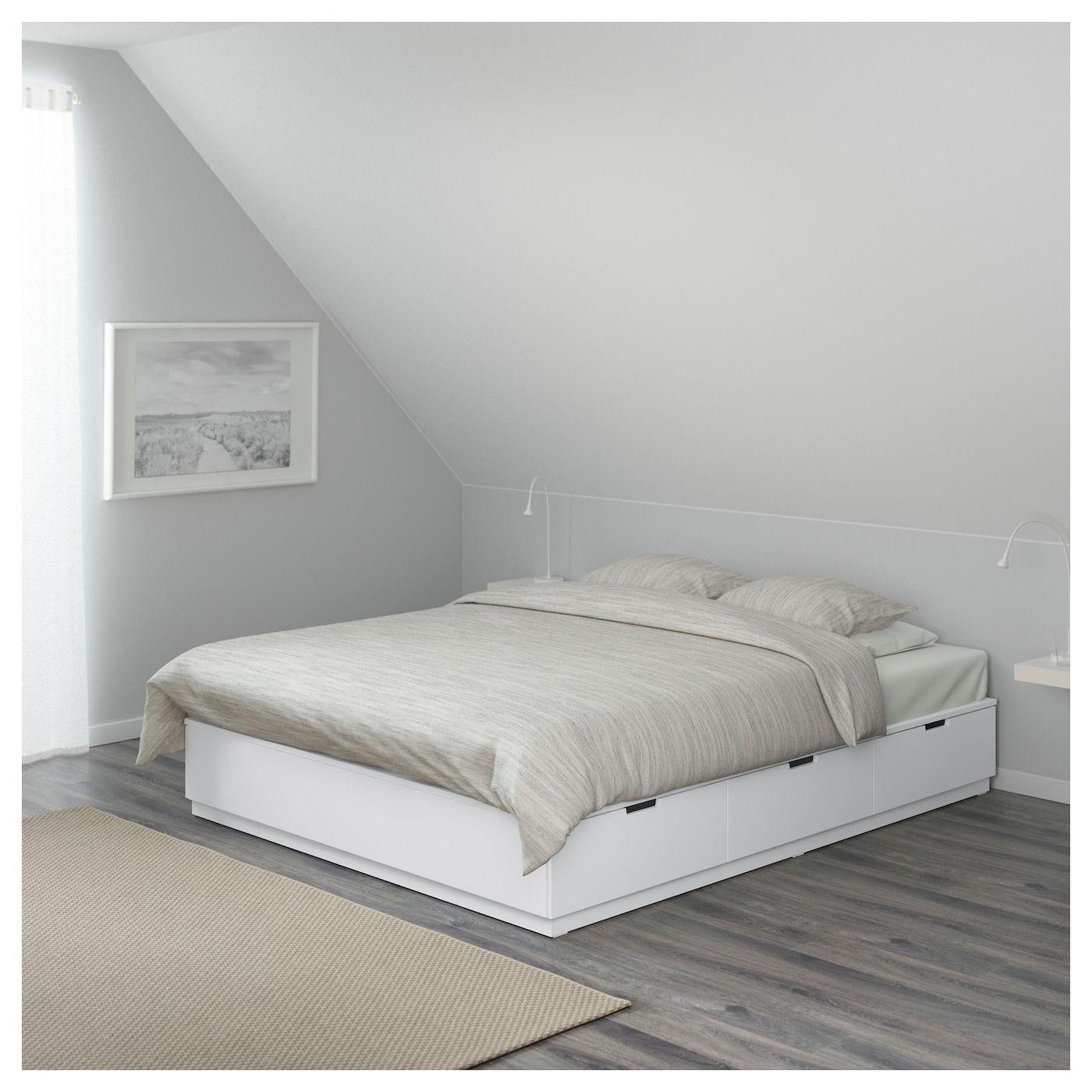 Nordli Bettgestell Mit Schubladen Weiss Ikea Deutschland Bed Frame With Storage Ikea Bed Bed Storage