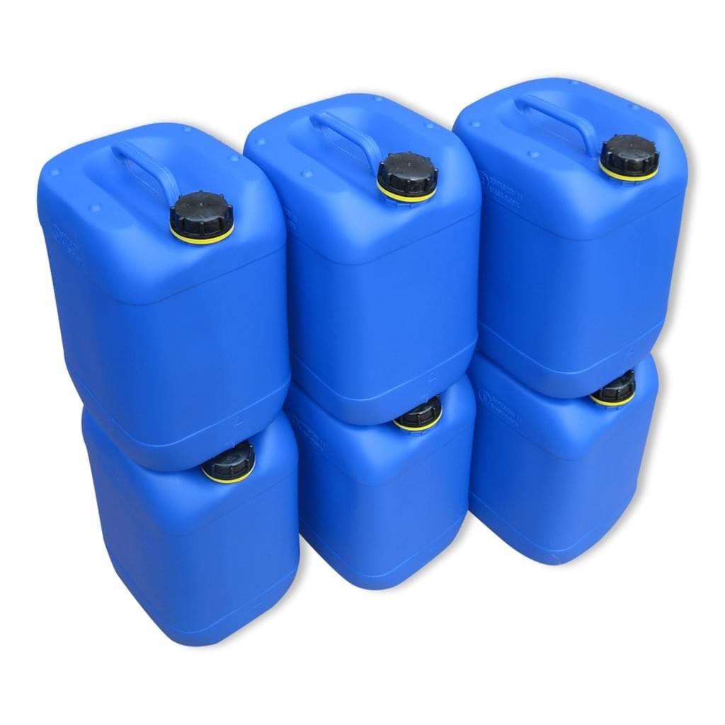 6 Stuck 20 Liter Kanister Camping Wasserkanister Farbe Blau
