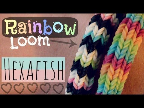 Rainbow Loom : HEXAFISH Bracelet - How To - 6-Pin Fishtail ...