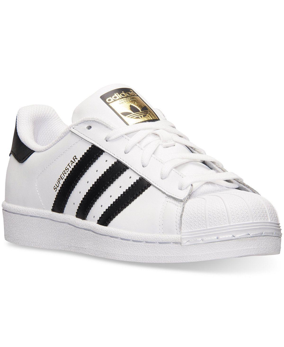 Popular atravesar Fácil de suceder  adidas Women's Superstar Casual Sneakers from Finish Line - Finish Line  Athletic Sneakers - Shoes - Ma… | White athletic shoes, Adidas women, Adidas  superstar black