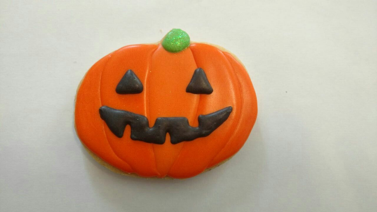 Galleta calabaza Halloween Galletas decoradas Pinterest - Halloween Decorated Cookies
