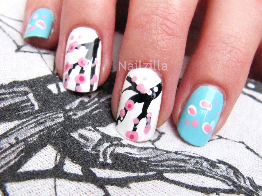 sakura nails art