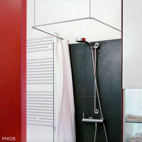 Duschvorhangstange Edelstahl U-Form DSU | BAGNO | Pinterest