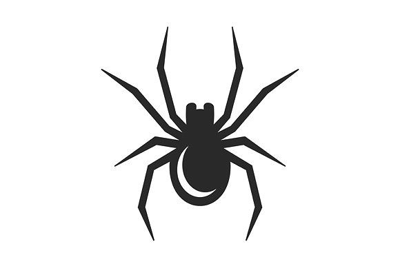 Black Spider Icon Black Spider Icon Spider